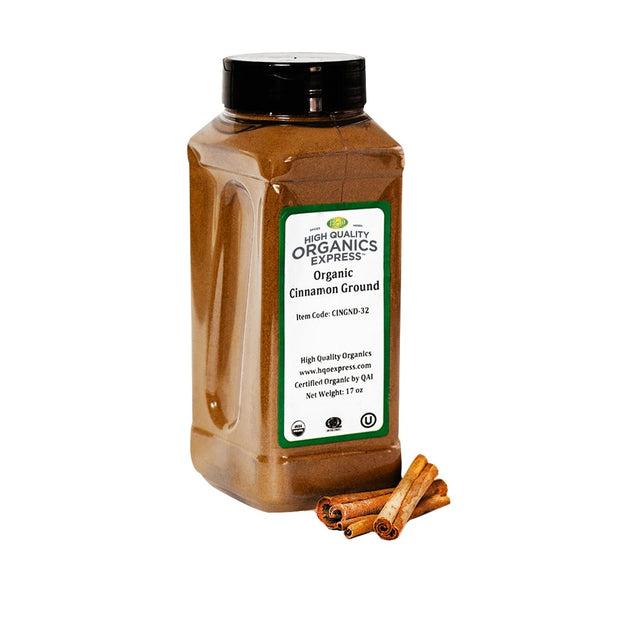 High Quality Organics Express Cinnamon Ground Jar