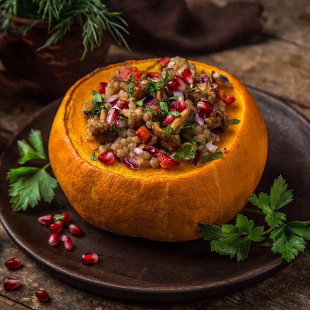 High Quality Organics Express Coriander Seed Stuffed Pumpkin