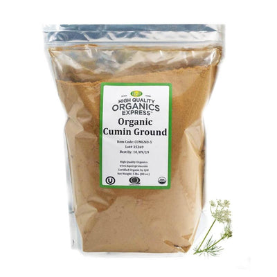 High Quality Organics Express Cumin Seed Ground