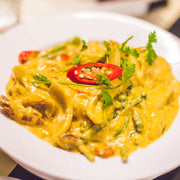 High Quality Organics Express Yellow Curry in dish