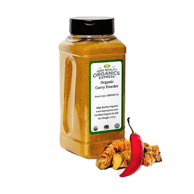 High Quality Organics Express Curry Powder Jar