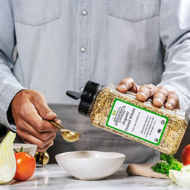 High Quality Organics Express Fennel Seed Whole Measurement