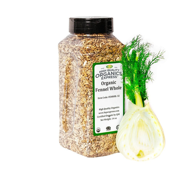 High Quality Organics Express Fennel Seed Whole Jar