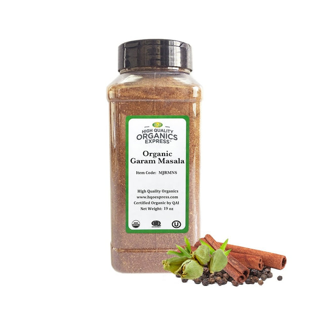 High Quality Organics Express Garam Masala - No Salt Blend Jar