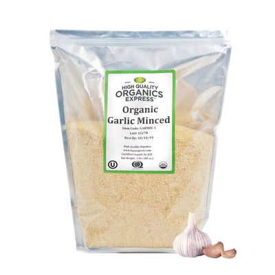High Quality Organics Express Garlic Minced Bag