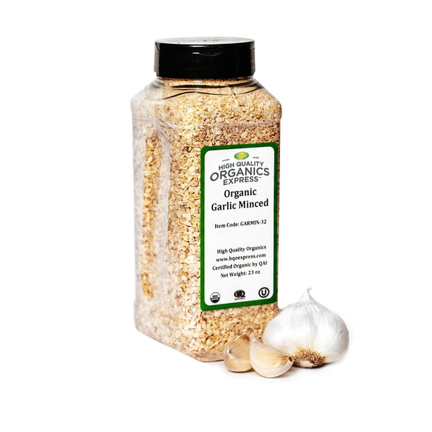 High Quality Organics Express Garlic Minced Jar