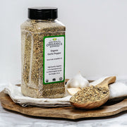 High Quality Organics Express Garlic Pepper Seasoning and Rub Display