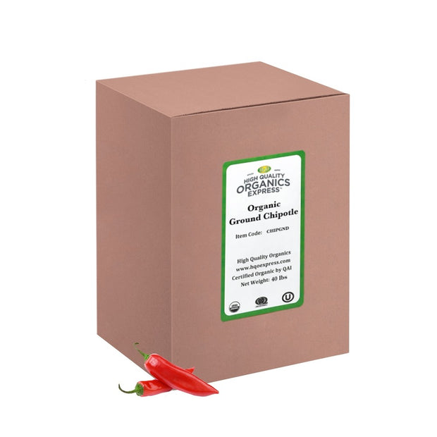 High Quality Organics Express Chipotle Pepper Ground Box