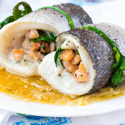 High Quality Organics Express Italian Seasoning with cod wrapped seafood