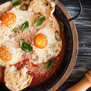 High Quality Organics Express Italian Seasoning on baked eggs