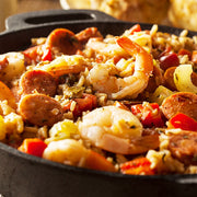 cajun jambalaya with shrimp and sausage
