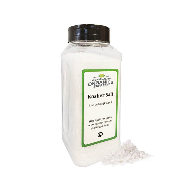 High Quality Organics Express Kosher Salt Jar