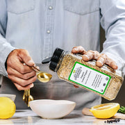 High Quality Organics Express Lemon Pepper Seasoning and Rub Measurement