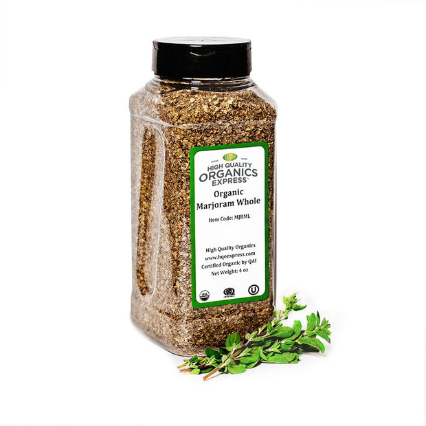 High Quality Organics Express Marjoram Leaf Jar