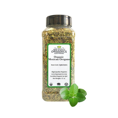 High Quality Organics Express Mexican Oregano Jar