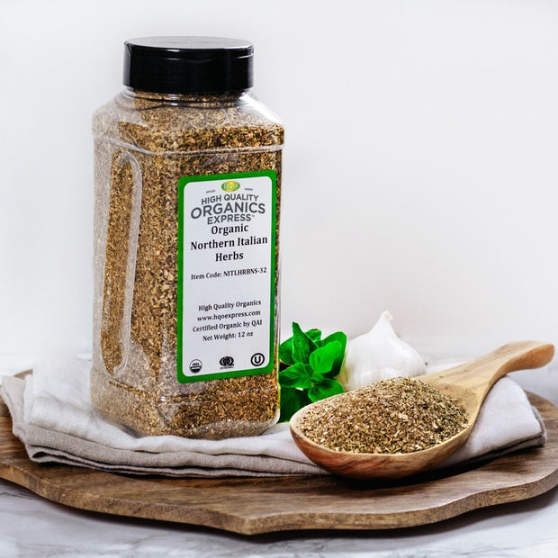 High Quality Organics Express Northern Italian Seasoning Display