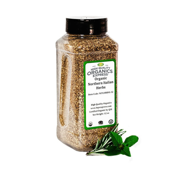 High Quality Organics Express Northern Italian Seasoning Jar