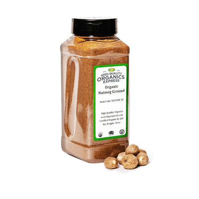 High Quality Organics Express Nutmeg Ground Jar