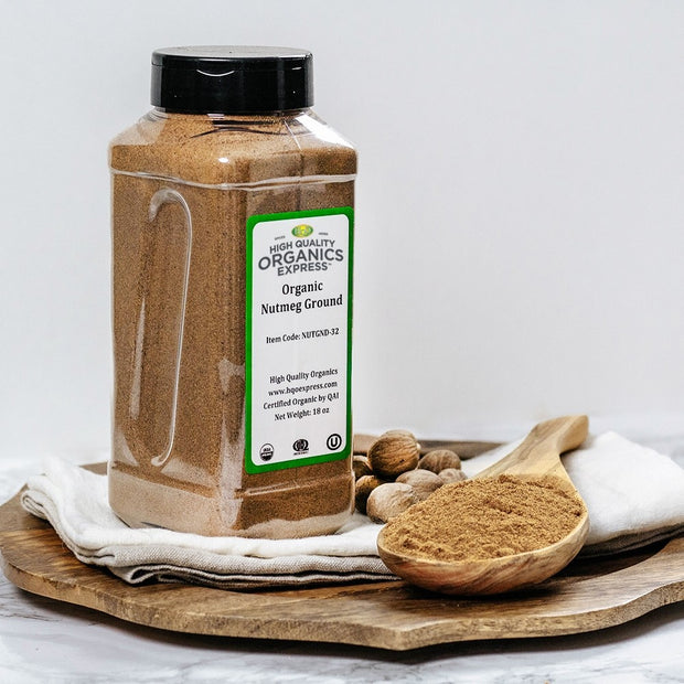 High Quality Organics Express Nutmeg Ground Display