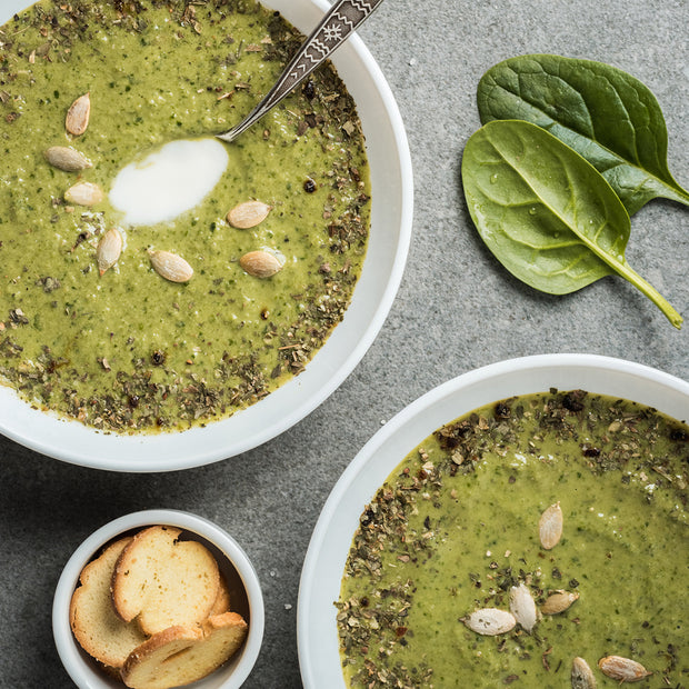 High Quality Organics Express Onion Spinach Soup