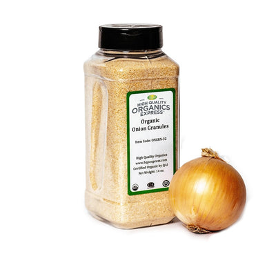 High Quality Organics Express Onion Granules Jar
