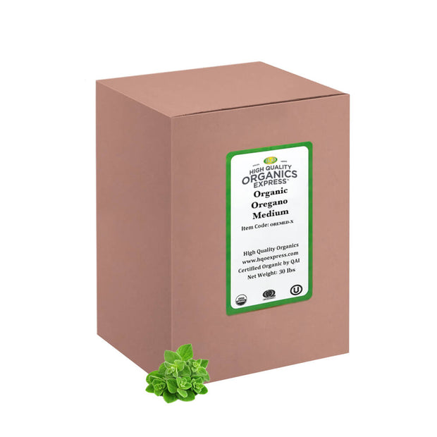 High Quality Organics Express Oregano Bulk Box