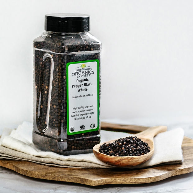 High Quality Organics Express Black Pepper Whole Display