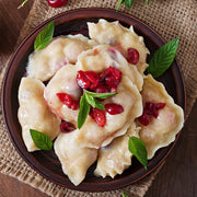 High Quality Organics Express Potato Flour Pierogi with cranberry
