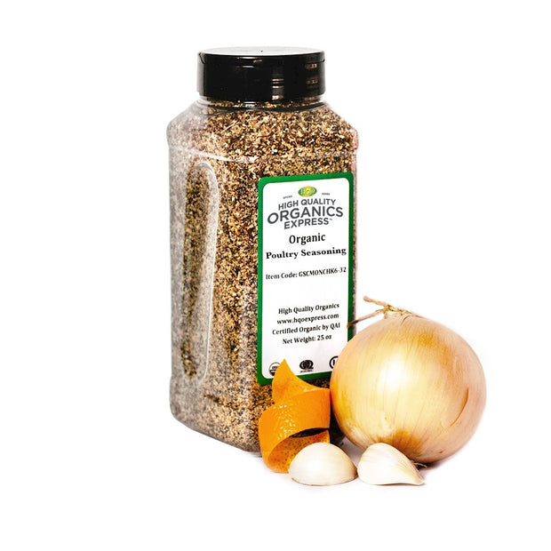 High Quality Organics Express Poultry Seasoning and Rub Jar