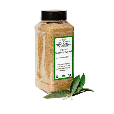 High Quality Organics Express Sage Leaf Rub Jar