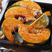 High Quality Organics Express Sesame Seed on Kabocha Squash with sage