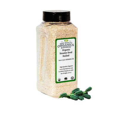 High Quality Organics Express Sesame Seed Jar
