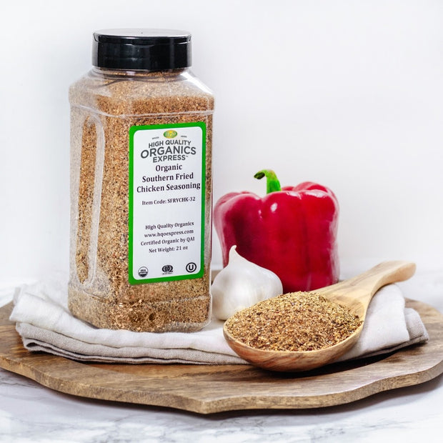 High Quality Organics Express Organic Fried or Baked Chicken Seasoning Display