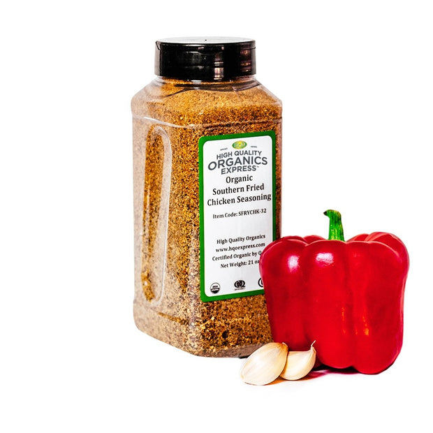 High Quality Organics Express Organic Fried or Baked Chicken Seasoning Jar