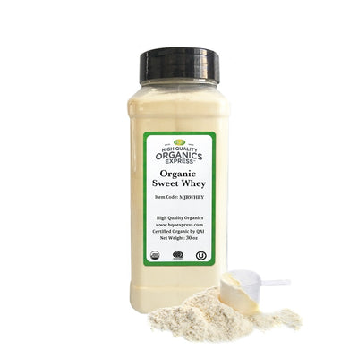 High Quality Organics Express Sweet Whey Powder Jar
