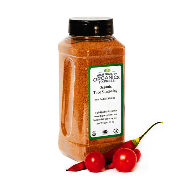 High Quality Organics Express Taco Seasoning Jar