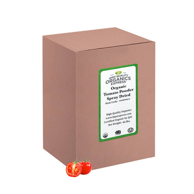High Quality Organics Express tomato powder bulk box