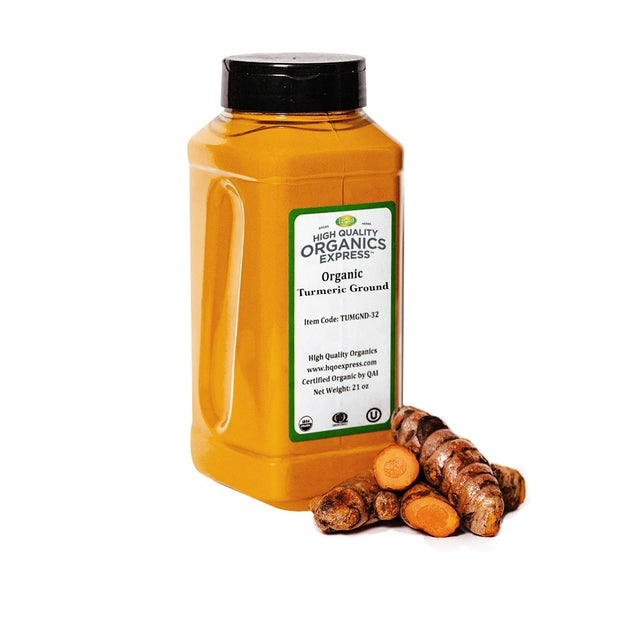 High Quality Organics Express Tumeric Jar