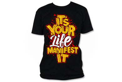 Manifest It Red/Gold (Iron On Transfer Sheet Only) - ME Customs, LLC