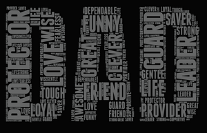 DAD Word Cloud (PNG Only) - ME Customs, LLC