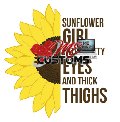 Sunflower Girl...(SVG/PNG) - ME Customs, LLC