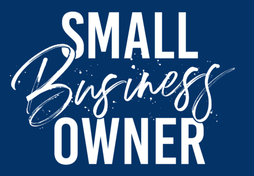 Small Business Owner *Bright Blue*(Iron On Transfer Sheet Only) - ME Customs, LLC