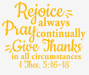 Rejoice... (GOLD Text).(Iron On Transfer Sheet Only) - ME Customs, LLC