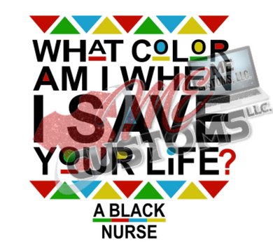 A Black Nurse..... (SVG) - ME Customs, LLC
