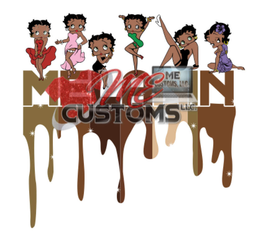 Melanin Betty Boop  (SVG) - ME Customs, LLC