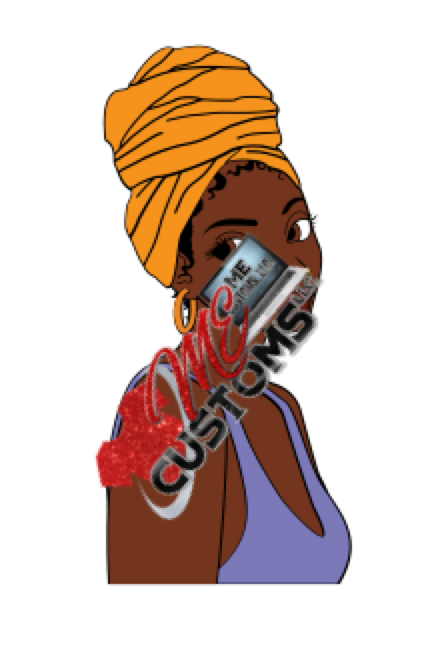 Unbothered Girl (SVG) - ME Customs, LLC