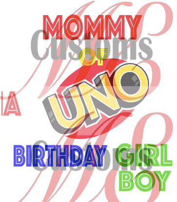 Uno Birthday Set - ME Customs, LLC