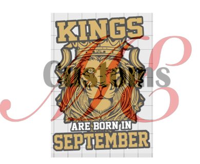 Kings Are Born (Lion) (All Months) - ME Customs, LLC