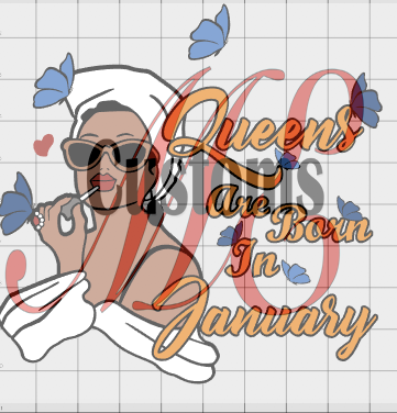 Butterfly Queen (All Months) - ME Customs, LLC