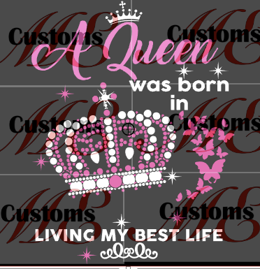 A Crowned Queen Was Born SVG Design for Women's Casual Dress - ME Customs, LLC